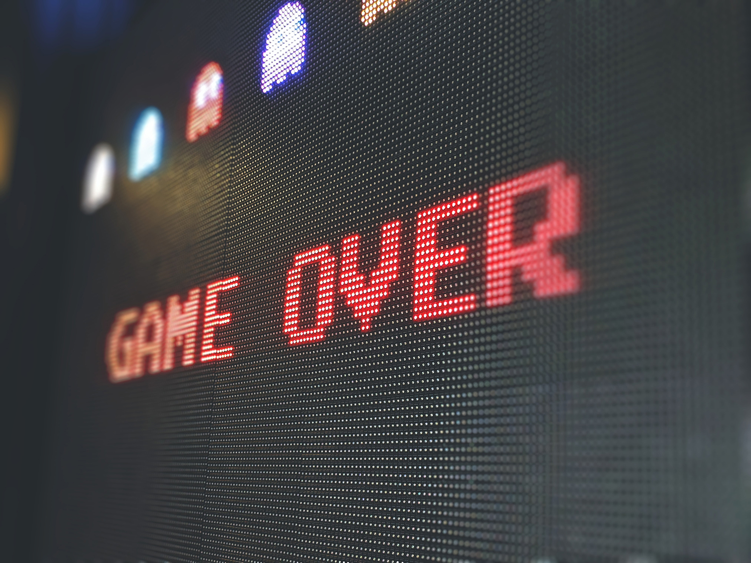 game over text from a video game representing cold calling killing sales